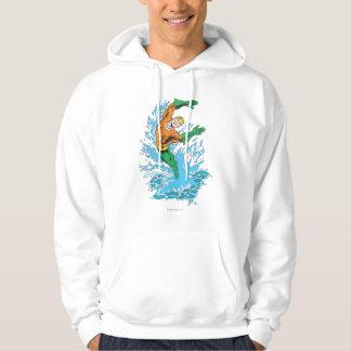 Aquaman Leaps in Wave Pullover