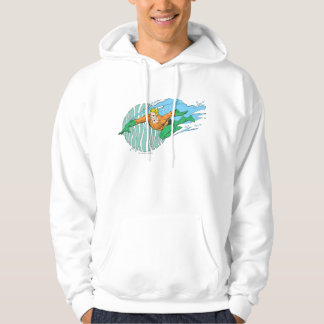 Aquaman Leaps Left Hooded Pullover