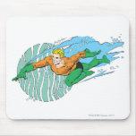Aquaman Leaps Left Mousepads