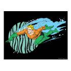 Aquaman Leaps Left Postcard