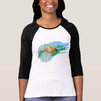 Aquaman Leaps Left Tshirt