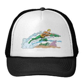Aquaman Leaps Over Coral Mesh Hats