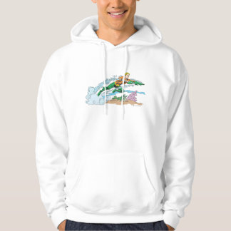 Aquaman Leaps Over Coral Hooded Pullover
