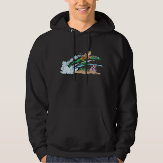 Aquaman Leaps Over Coral Hoodie