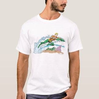 Aquaman Leaps Over Coral T-Shirt