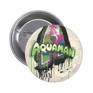 Aquaman - letra torcida de la inocencia pin redondo de 2 pulgadas