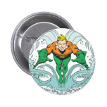 Aquaman Lunging Forward 2 Inch Round Button