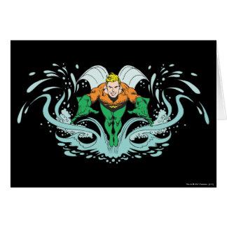 Aquaman Lunging Forward Card