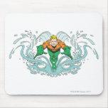 Aquaman Lunging Forward Mouse Pad