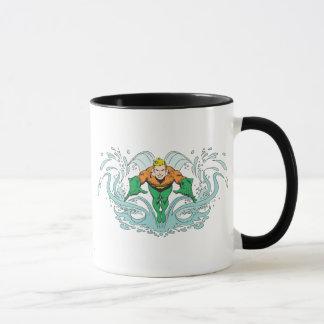 Aquaman Lunging Forward Mug
