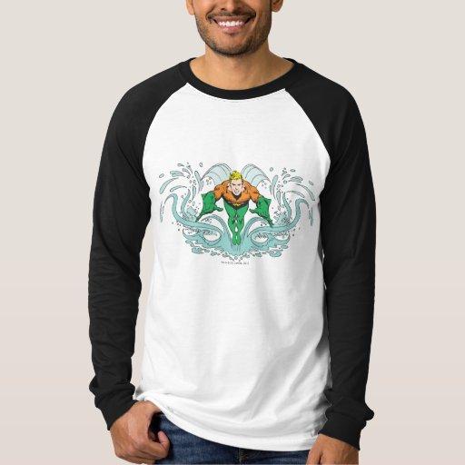 Aquaman Lunging Forward T Shirt