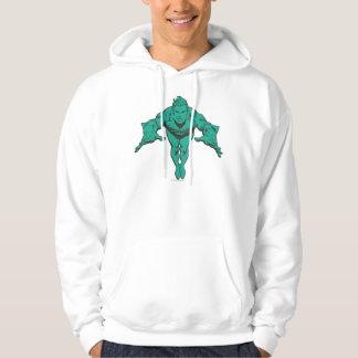 Aquaman Lunging Forward - Teal Sweatshirt