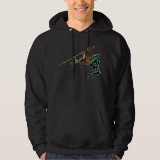 Aquaman Lunging with Spear Hoodie