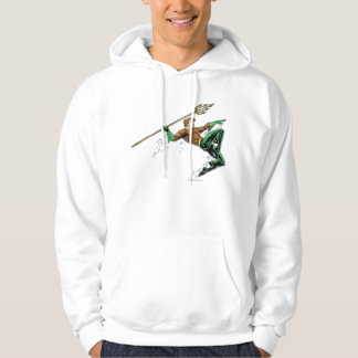 Aquaman Lunging with Spear Hoody