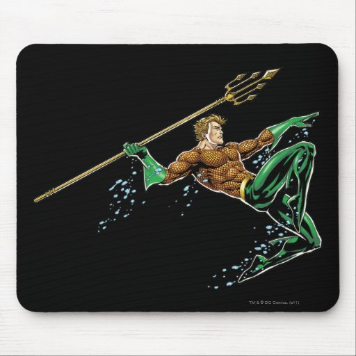 Aquaman Lunging with Spear Mousepad