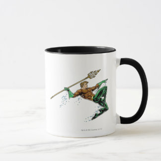 Aquaman Lunging with Spear Mug