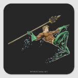 Aquaman Lunging with Spear Sticker