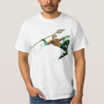 Aquaman Lunging with Spear T-Shirt