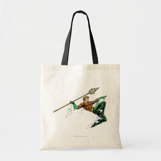 Aquaman Lunging with Spear Tote Bag