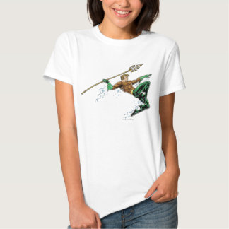 Aquaman Lunging with Spear Tshirt