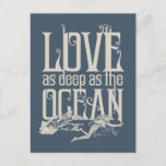 Aquaman & Mera - Love As Deep As The Ocean Holiday Postcard