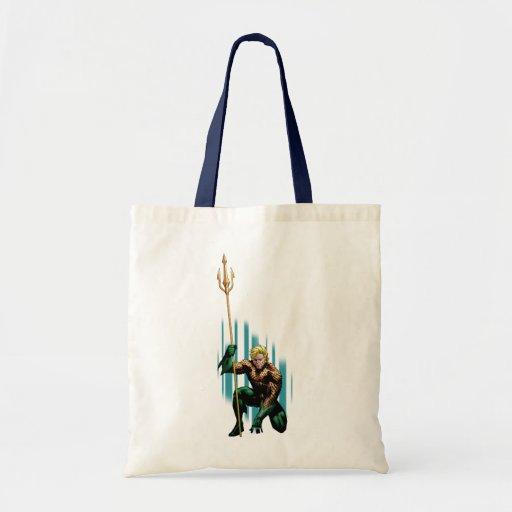Aquaman que se agacha bolsa tela barata