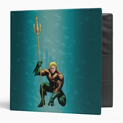 "Aquaman que se agacha carpeta 1 1/2"""