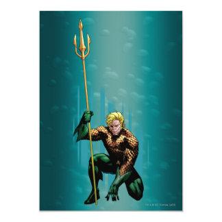 Aquaman que se agacha invitación 12,7 x 17,8 cm