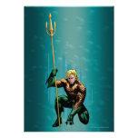 Aquaman que se agacha invitacion personalizada