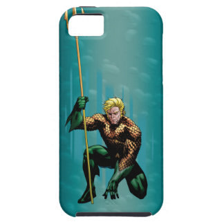 Aquaman que se agacha iPhone 5 fundas