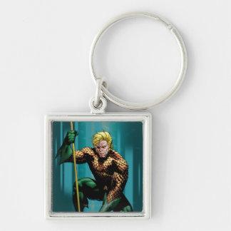 Aquaman que se agacha llaveros