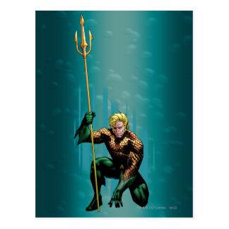 Aquaman que se agacha postal