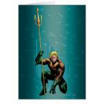 Aquaman que se agacha tarjeton