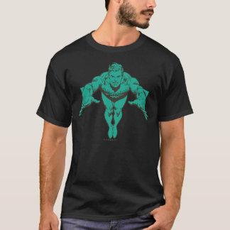 Aquaman que se lanza adelante - el trullo playera
