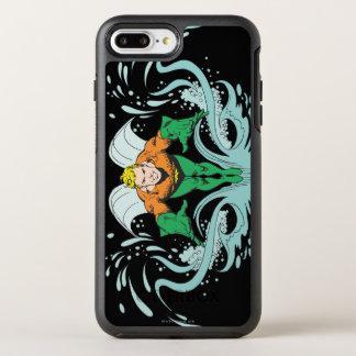Aquaman que se lanza adelante funda OtterBox symmetry para iPhone 7 plus