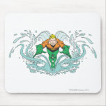 Aquaman que se lanza adelante tapete de raton