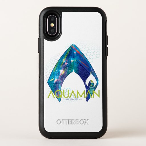 Aquaman | Refracted Aquaman Logo OtterBox Symmetry iPhone X Case