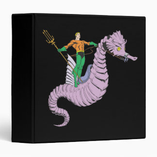 Aquaman Rides Seahorse 3 Ring Binders