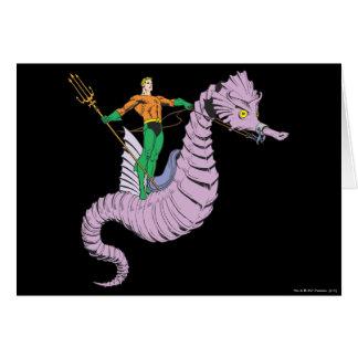 Aquaman Rides Seahorse Greeting Card