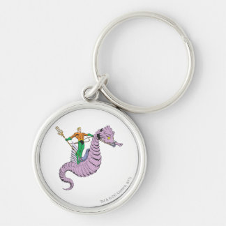 Aquaman Rides Seahorse Keychains