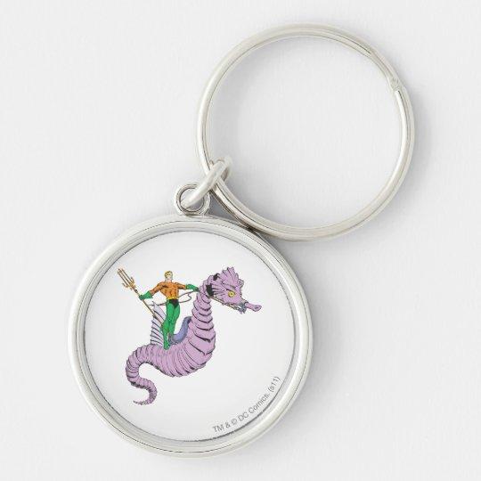 Aquaman Rides Seahorse Keychain