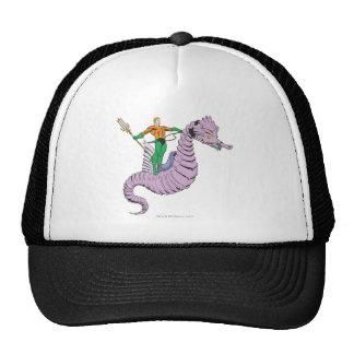 Aquaman Rides Seahorse Mesh Hats