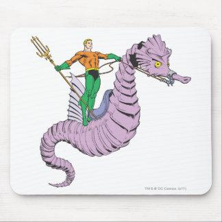 Aquaman Rides Seahorse Mouse Pad