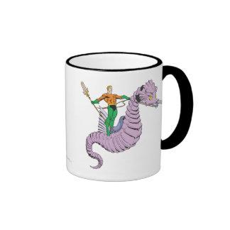 Aquaman Rides Seahorse Coffee Mugs