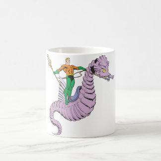 Aquaman Rides Seahorse Mugs