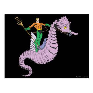 Aquaman Rides Seahorse Postcard
