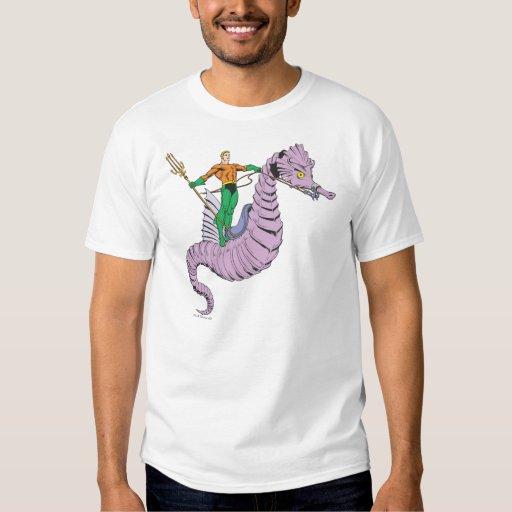Aquaman Rides Seahorse T-shirt