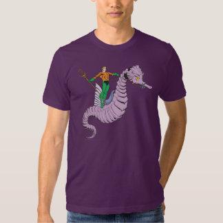 Aquaman Rides Seahorse Tee Shirts