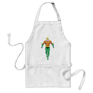 Aquaman Runs Adult Apron