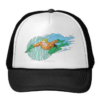 Aquaman salta a la izquierda gorros bordados